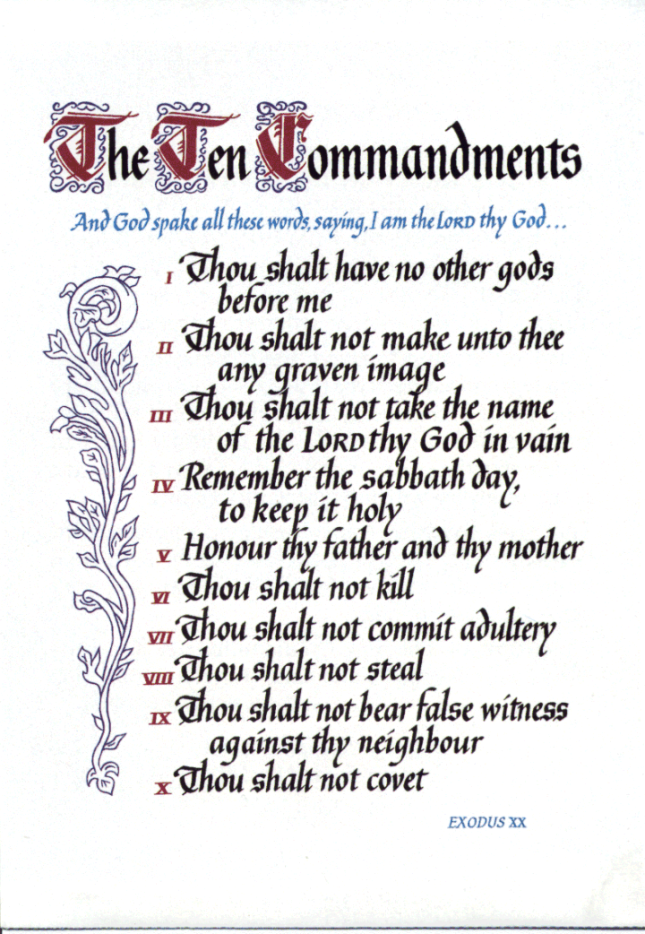 10 Commandments for Doorposts